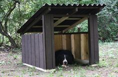 DIY a Cool, Modern Dog House >> http://blog.diynetwork.com/maderemade/how-to/build-a-cool-diy-modern-dog-house/?soc=pinterest