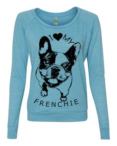 Womens FRENCHIE Screen Print Top Long Sleeve American Alternative Apparel S M L XL more Colors Women on Etsy, $30.00