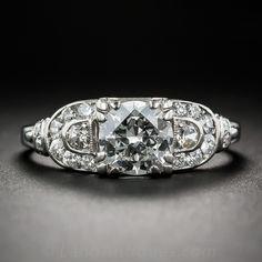 1.00 Carat Art Deco Diamond Engagement Ring - 10-1-6442 - Lang Antiques