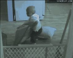 This ridiculously clever child. | 35 GIFs Of Individuals Who Really Did Nail It