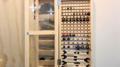 Making a wall mounted router bit cabinet, Page 1 - Basic planning for the cabinet and getting started cutting the material. Jet Woodworking Tools, Woodworking Projects Diy, Diy Garage Storage, Tool Storage, Router Lift, Shop Cabinets, Workshop Storage, Garage Workshop, Wood Tools
