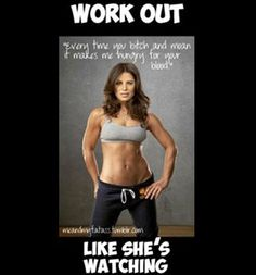 The next time you think you can't eek out another pushup, imagine  Jillian Michaels is standing over you.