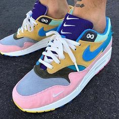 """a2b98bfd84dc9a  everysize on Instagram  """" sean wotherspoon x  nikelab Bespoke Air Max 1  corduroy tear-away inspired by  mcfetridge - you can go totally nuts with  these ..."""
