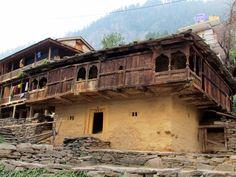 Traditional houses in Vashisht Village - India