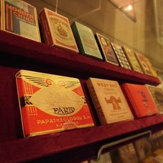 Vintage cigarette packages - @tengyu_bookstore #instagram