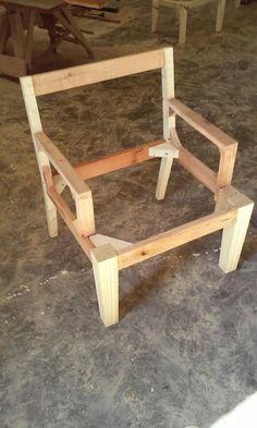 estructura esqueleto de sillon matero puff de madera