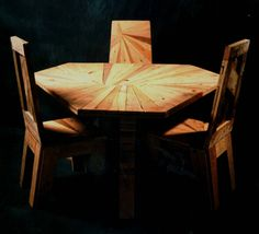Dinning table and chairs from pallets