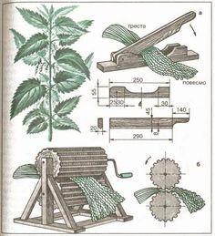 Traditions_ru - возрождение ремесел. The process of making nettle fiber