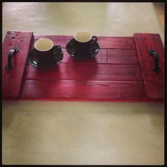 Pallet Wood Tray by ChicPalletBoutique on Etsy