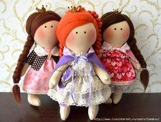 Muñecas de tela fáciles de hacer con patrón incluido.