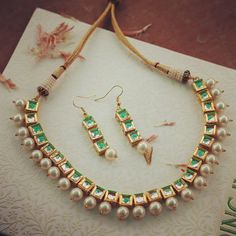 Kundan Square Necklace