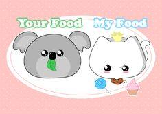 My food your food! Ich muss meine flauschigen Kurven beibehalten :3