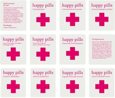 Very original pharmacy design in Spain: Happy Pills shops Bff Gifts, Cute Gifts, Printable Labels, Printables, Chill Pills Label, Diy Cadeau, Pharmacy Design, Cute Birthday Gift, Nurses Day