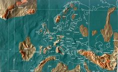 Future map of Europe by Gordon Scallion. Money and precious metals will be useless, as self sustainable territory will become the new necessary luxury.