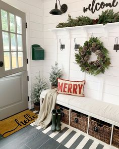 19 Amazing Christmas Entryway Ideas (Farmhouse Style & More!) 2019 Pinecone Wreath Christmas Entryway via dreaming of homemaking The post 19 Amazing Christmas Entryway Ideas (Farmhouse Style & More!) 2019 appeared first on Entryway Diy. Christmas Entryway, Christmas Home, Apartment Christmas, Christmas Music, Christmas Movies, Farmhouse Style, Farmhouse Decor, Farmhouse Front, Modern Farmhouse