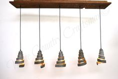 "RUSTIC - ""Vachellia"" - Reclaimed Barn Wood and Wine Barrel Ring - Adjustable Flush-Mount Chandelier - 100% RECYCLED"