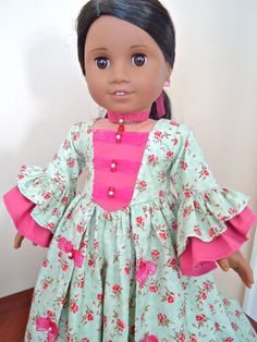 Your place to buy and sell all things handmade One Piece Gown, American Girl Clothes, American Dolls, Thing 1, Garden Dress, Ag Doll Clothes, Girls World, Layered Skirt, Girl Dolls