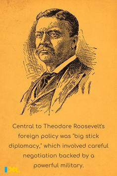 """President Theodore Roosevelt gave the first public speech in which he said, """"Speak softly and carry a big stick,"""" in 1901 #OnThisDay. Theodore Roosevelt, Foreign Policy, Throwback Thursday, Social Studies, Fun Facts, Presidents, Public, Study, Learning"""