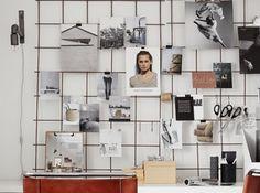 Grillage pour accrocher photos contre mur