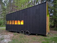 A 187 square feet tiny house on wheels in Utopia, Ontario, Canada