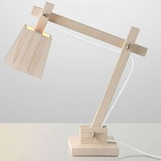 muuto wood lamp hvit