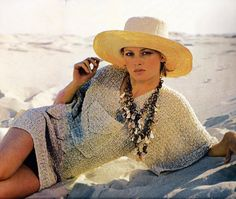 Easy Beach T-Top or Swimsuit Coverup with Big Front Pocket PDF Crochet Pattern