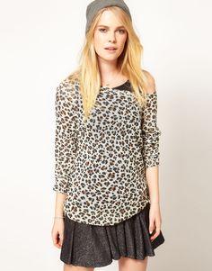 Cool Cat Leopard Print Oversize Jumper