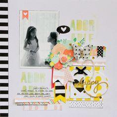 #papercraft #scrapbook #layout. Neon Colors