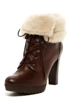Manas Footwear Cuffed Lace-Up High Heel Boot by Non Specific on @HauteLook
