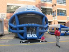 Lions Inflatable Helmet Bounce