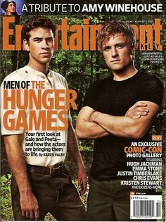 Entertainment Weekly, Hunger Games, Liam Hemsworth, Josh Hutcherson, August 2011~NEW