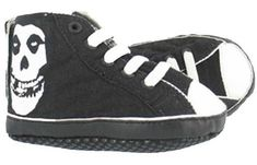 Draven Misfits High Tops Baby Shoes Crimson Ghost Canvas Punk Rock Gothic Kids | eBay