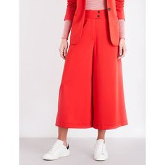CEFINN Tailored stretch wool-blend maxi culottes ($240) ❤ liked on Polyvore featuring pants, high-waist trousers, long slip, wide-leg trousers, wide-leg pants and relaxed fit pants Long Slip, Wide Leg Trousers, Workout Pants, Wool Blend, High Waist, Stretches, Wide Leg Pants, Wide Legged Pants, Training Pants