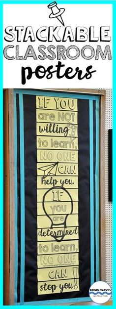 Modern, fun, and inspirational stackable posters for your school or classroom! Check out this set of 2 stackable posters. Each are designed to be displayed vertically for a new twist on classroom decor. Just print, cut, and display!