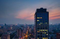 Skyline of Nanjing City at Sunset