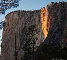 Cold Fire, Horsetail Falls, Yosemite NP/ DM Weber