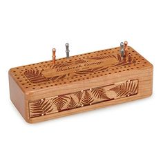 This personalized cribbage board is both a handsome heirloom and a memorable way to bring the whole family together.