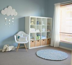 Project Nursery - Calming Light Blue and White Nursery