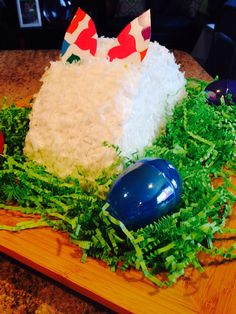 Easter bunny cake. I cut the ears to match our plates.