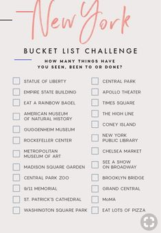 Check off your bucket list. Join the thousands of people who are saving on average on hot spots like New York. Check off your bucket list. Join the thousands of people who are saving on average on hot spots like New York. Voyage Usa, Voyage New York, Bucket List Destinations, Europe Destinations, Holiday Destinations, Travel Checklist, Travel List, Travel Packing, Travel Goals