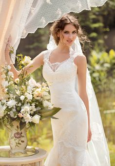 """Mermaid Style Lace Dress from Papilio """"Sole Mio"""" Bridal Collection - https://www.facebook.com/papilioboutique"""