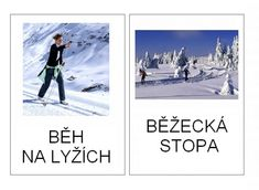 Zimní sporty - kartičky – (Mujblog.info v3.1) Winter Activities For Kids, Winter Sports, Olympic Games, Sporty, Education, Winter Time, School, Children, Cuba
