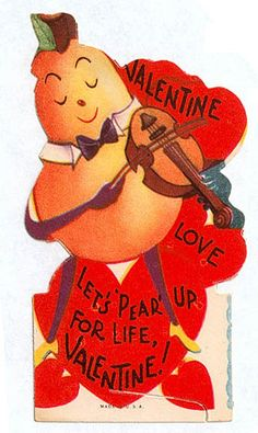 Vintage Valentine: Let's pear My Funny Valentine, Valentine Images, Holiday Images, Vintage Valentine Cards, Little Valentine, Vintage Holiday, Valentine Day Cards, Vintage Cards, Happy Valentines Day