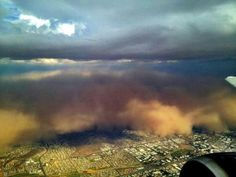 Dust storm as it rolls above Arizona. Otherwise known as Haboob  23/07/2012