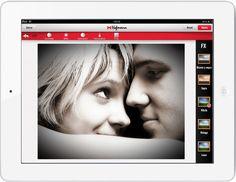app de Hofmann en un iPad blanco