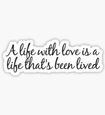 LIFE WITH LOVE | Supermarket Flowers by Ed Sheeran Sticker