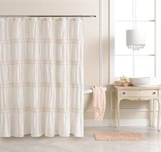 Lauren Conrad Kohl's Lily Ruched Fabric Shower Curtain