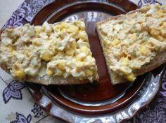 Tuńczykowo - jajeczna pasta do chleba z ogórkiem i kukurydzą. - Krok 10 Krispie Treats, Rice Krispies, Baked Potato, Macaroni And Cheese, Salads, Food And Drink, Potatoes, Healthy Recipes, Healthy Food