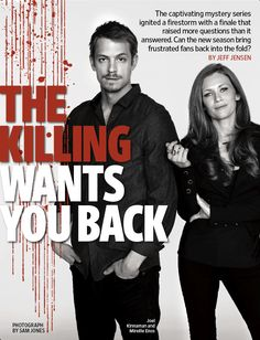The Killing / Entertainment Weekly Holder The Killing, Linden And Holder, Series Movies, Tv Series, Stephen Holder, Joel Kinneman, Mireille Enos, Please Man, My Favorite Year