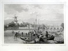 Amsterdam-Amstel Yachtclub | Herkomst : J.L. Terwen - Het Koningrijk der Nederlanden, afm. 14 x 20 cm Staalgravure 1860